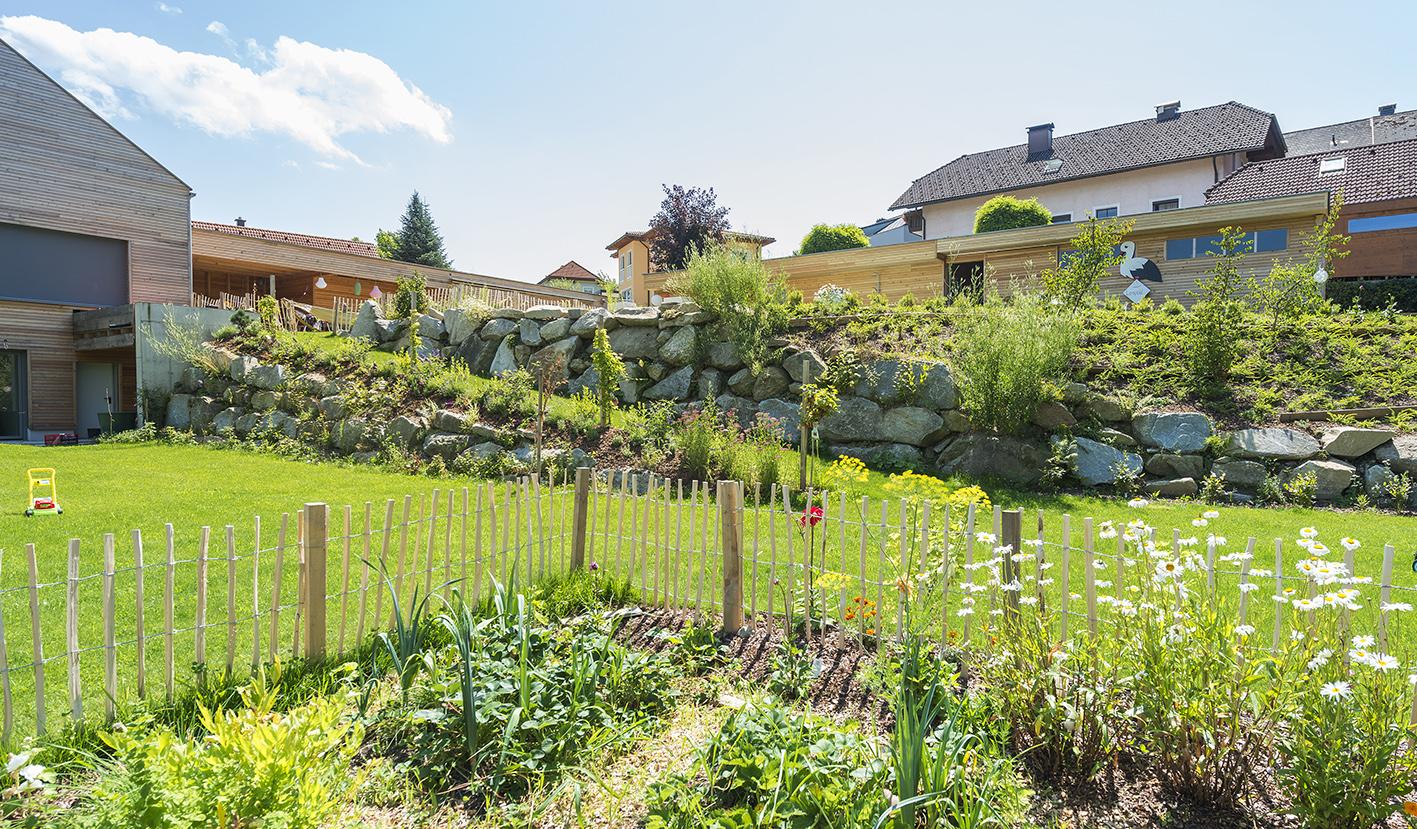 Garten mit Gemüsebereich